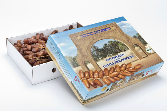 Tunesische Bio-Datteln, Deglet Nour, Rispe 5 kg