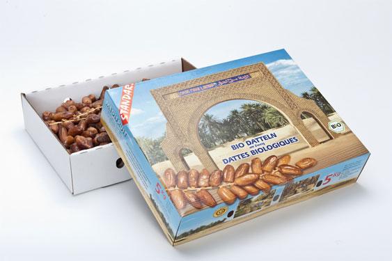 Dattes bio tunisiennes, Deglet Nour, standard  5 kg
